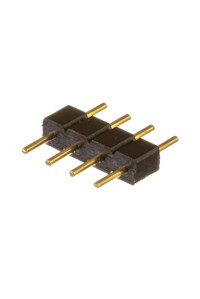 Коннектор для лед ленты RGB 12В 10мм папа+4 pin