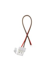 Коннектор для ленты 12В 8мм провод+зажим