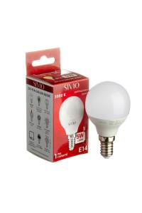 Светодиодная лампа 5Вт SIVIO теплая белая G45 E14 3000K