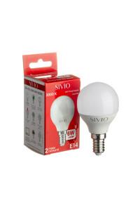 Светодиодная лампа 6Вт SIVIO теплая белая G45 E14 3000K
