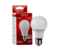 Светодиодная лампа 10Вт SIVIO теплая белая A60 E27 3000K