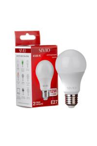 Светодиодная лампа 12Вт SIVIO нейтральная белая A60 E27 4100K
