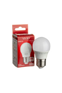 Светодиодная лампа 5Вт SIVIO теплая белая G45 E27 3000K