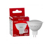 Светодиодная лампа 5Вт SIVIO теплая белая MR16 GU5.3 3000K