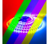 Светодиодная лента 12В 60led/m RGB smd5050 IP65, 1м