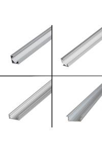 Профиль алюминиевый врезной ПФ-16 полуматовый рассеиватель (комплект) 1м