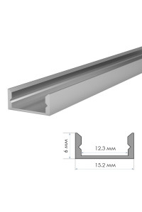 Профиль алюминиевый неанодированный накладной ПФ-18 2м