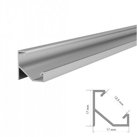 Купить Профиль алюминиевый накладной угловой ПФ-20 2м во Львове