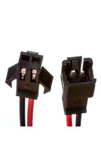 Комплект коннекторов для лед ленты папа+мама 12В 2pin черный с зажимом