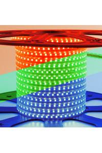 Светодиодная лента 220В 60led/m RGB smd5050 10W/m IP65, 1м