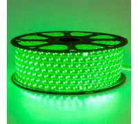 Светодиодная лента 220В зеленая 120led/m smd2835 12W/m IP65, 1м