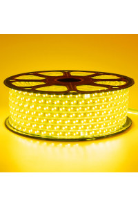 Светодиодная лента 220В желтая 120led/m smd2835 12W/m IP65, 1м