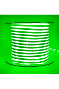 Светодиодный неон 220В зеленый AVT 120led/m smd2835 7W/m IP65, 1м