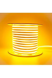 Светодиодный неон 220В желтый AVT 120led/m smd2835 7W/m IP65, 1м