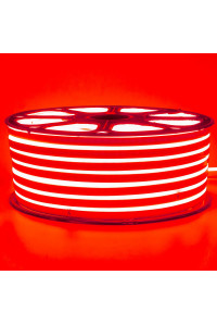 Светодиодный неон 220В красный 120led/m smd2835 12W/m IP65, 1м