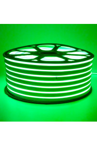 Светодиодный неон 220В зеленый 120led/m smd2835 12W/m IP65, 1м