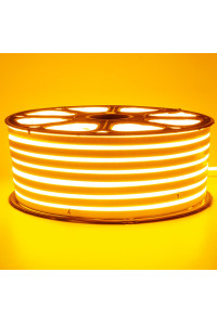 Светодиодный неон 220В желтый 120led/m smd2835 12W/m IP65, 1м