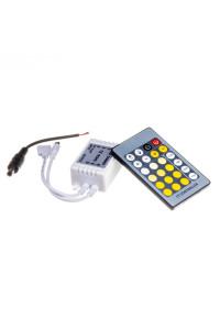 Контроллер W+WW светодиодный 6А/72Вт, (IR 24 кнопки)
