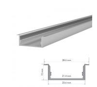 Профиль алюминиевый накладной ПФ-26 полуматовый рассеиватель (комплект) 2м