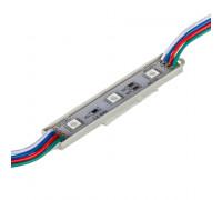 Светодиодный модуль 12В 3led RGB smd5050 0.72W IP65