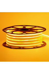 Светодиодный неон 220В желтый AVT-1 120led/m smd2835 7W/m IP65, 1м