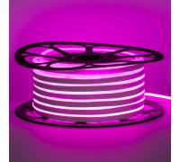 Светодиодный неон 220В розовый AVT-1 120led/m smd2835 7W/m IP65, 1м