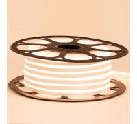 Светодиодный неон 12в белый теплый AVT-smd2835 120led/m 6W/m 6*12 IP65 герметичный, 1м