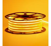 Светодиодный неон 12в желтый AVT-smd2835 120led/m 6W/m 6*12 IP65 герметичный, 1м