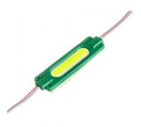 Светодиодный модуль СОВ 12В зеленый 1led 2W овальный IP65