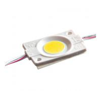 Светодиодный модуль 12 В белый теплый СОВ круглый 1led 2,4 Вт IP65