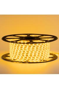 Светодиодная лента желтая 220В 48led/m smd2835 6W/m IP65, 1м