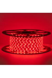 Светодиодная лента красная 220В 48led/m smd2835 6W/m IP65, 1м