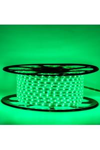 Светодиодная лента зеленая 220В 48led/m smd2835 6W/m IP65, 1м