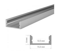 Профиль алюминиевый неанод. накладной ПФ-18 + рассеиватель (комплект) 2м