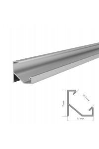 Профиль светодиодный угловой ПФ-20/1 неанод. с полумат.рассеивателем (комплект) 2м