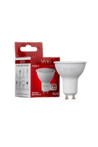 Светодиодная лампа нейтральная белая 7 Вт GU10 4100K