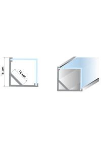 Профиль алюминиевый угловой квадратный ПФ-9 полуматовый рассеиватель (комплект) м