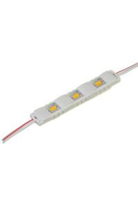 Модуль 12V МТК  белый тёплый 3led smd5730 1Вт IP65
