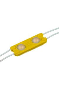 Модуль 12V МТК  жёлтый 2led smd5730 1Вт IP65